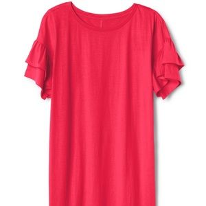 GAP Dresses - NWT Gap ruffle sleeve t-shirt dress